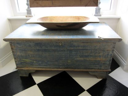 Antique blue chest