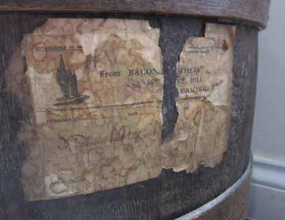 Large oak tobacco barrels