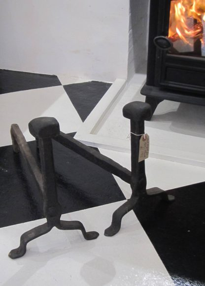 Hand forged fire dogs