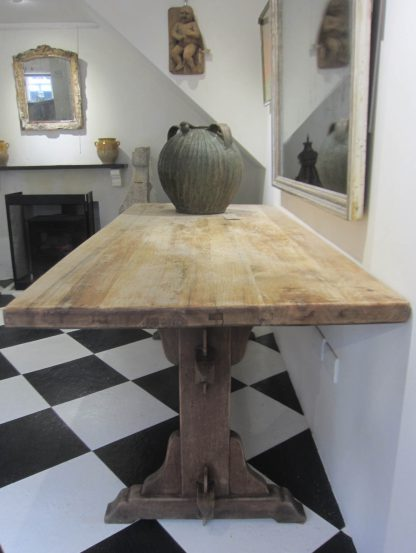 Salvaged cafe dining table