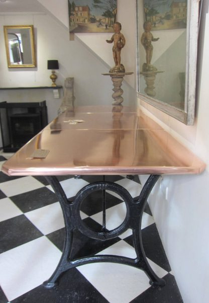 Spectacular copper table