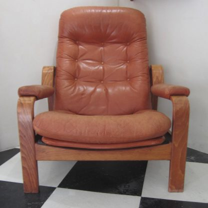 Swedish leather armchair
