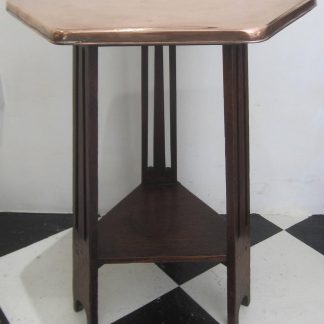 Arts & Crafts copper table