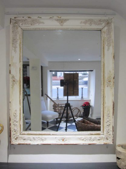 Distressed Gesso French mirror