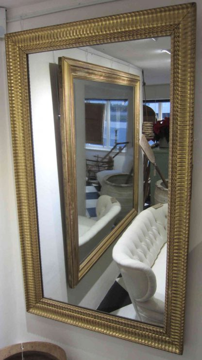 French golden ripple mirror