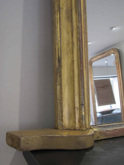 Victorian faded gilt overmantle mirror