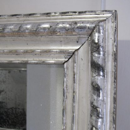 Irish silver ripple mirror