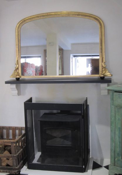 Victorian arch top overmantel