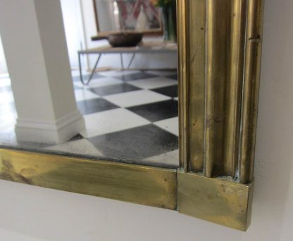 Grand Brass Overmantle