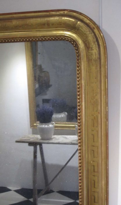 Greek Key giltwood mirror