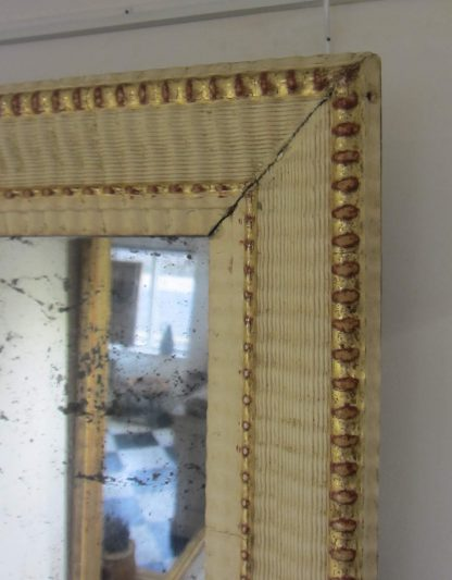 Bleached gesso ripple mirror