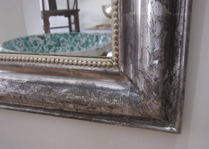 Large Silver/gilt crested mirror