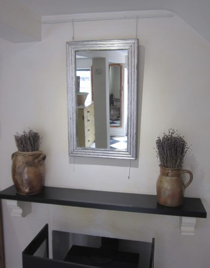 Silver reeded mirror