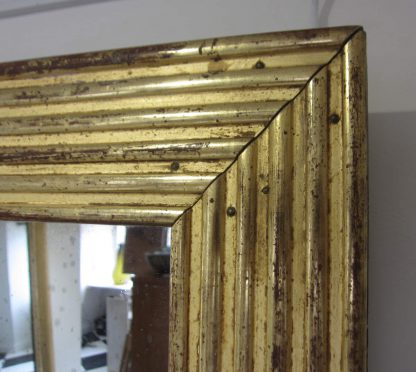 Giltwood reeded mirror