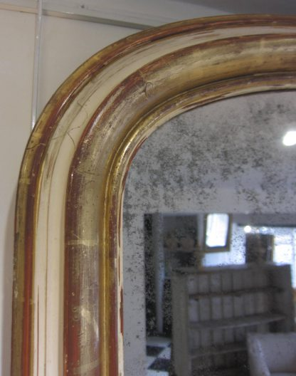 Giltwood archtop mirror