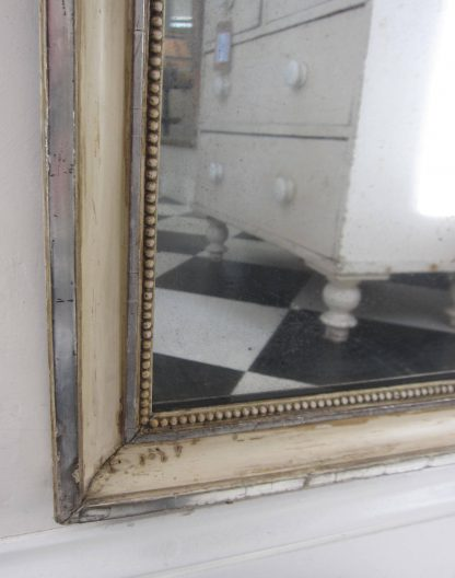 Silver cream dressing mirror