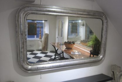 Silver rounded corner mirror