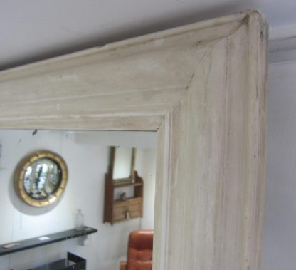 Bleached gesso overmantle