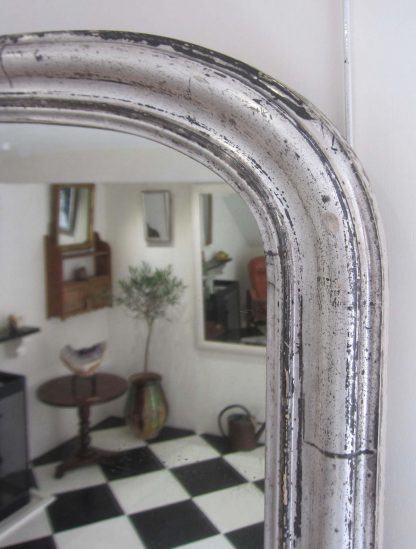 English silver overmantle