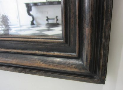 Ebonized oak mirror